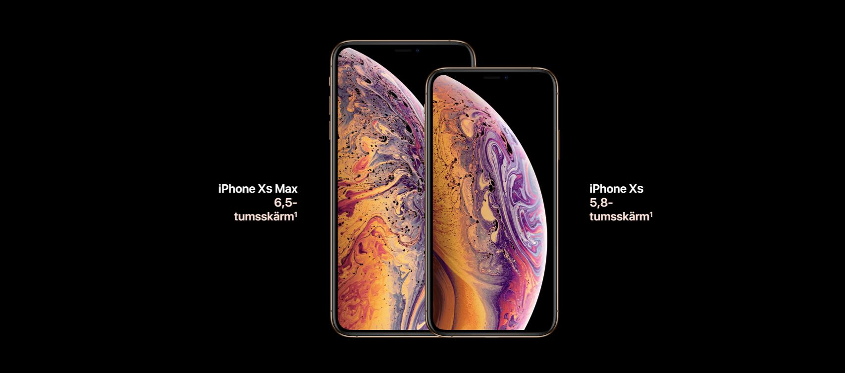 Jämför iPhone XS med iPhone XS Max