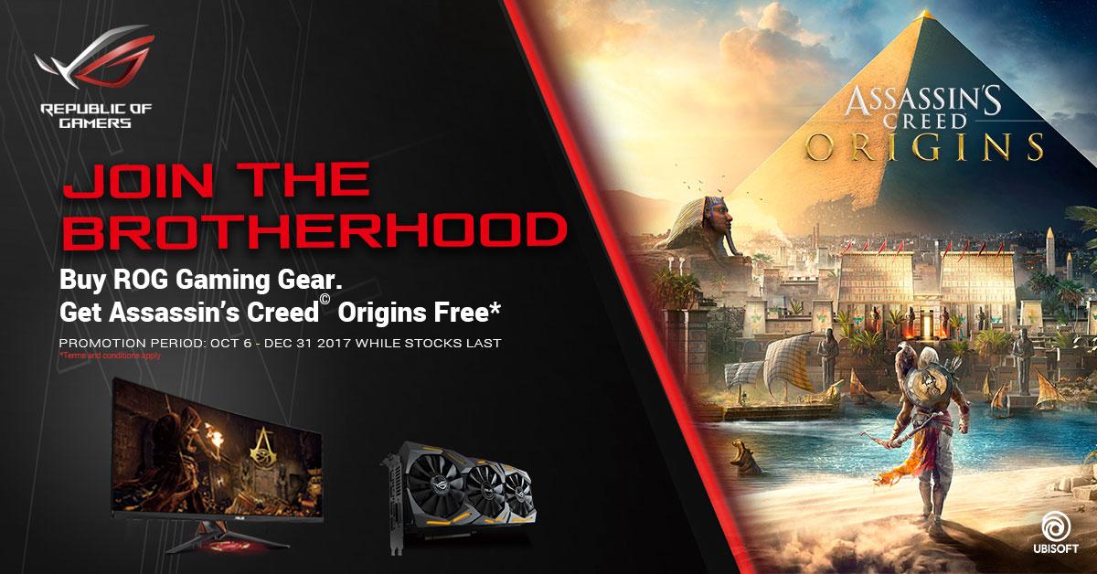 Assassin's Creed Origins ingår vid köp