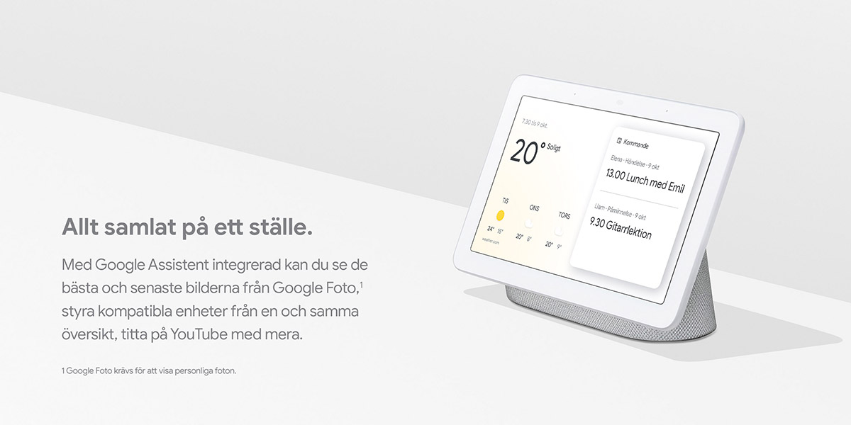 GOOGLE Home Nest Hub (charcoal) Svart Google Home Köp på