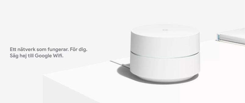 Google Wifi banner på mediamarkt.se