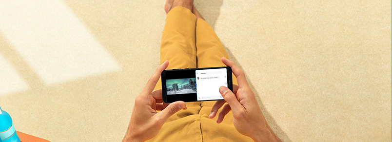 Huawei P smart med en split screen-funktion