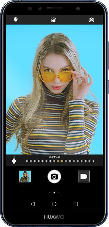 Ta perfekta selfies med kameran på 5 MP i Huawei Y6!