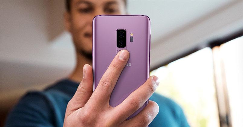 fingeravtrycksläsare i Samsung Galaxy S9