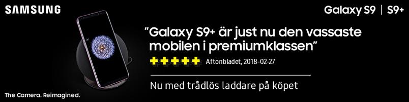samsung galaxy s9 kampanj med trådlös laddare på köpet