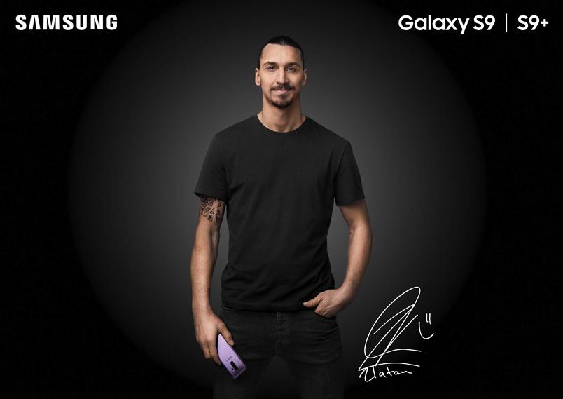 Samsung Galaxy S9 Plus i samarbete med Zlatan