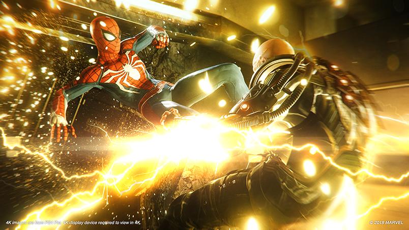 spiderman slåss mot electro