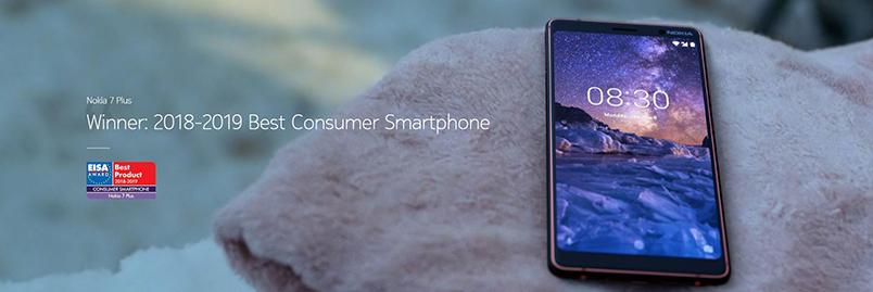 Nokia 7 Plus vinnare av EISA-pris 2018-2019